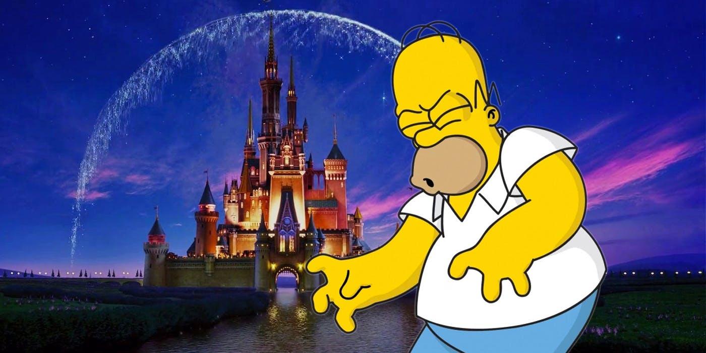 Homer Simpson and Disney