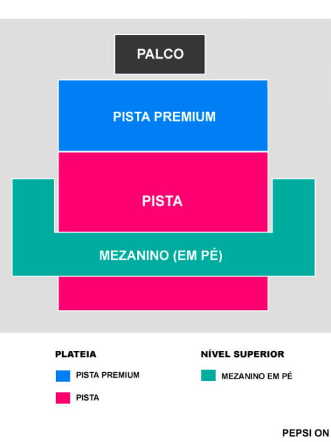 Mapa Pepsi on Stage POA 30 Seconds to Mars