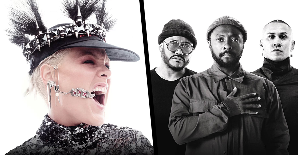 pink bep black eyed peas poltrona vip rock in rio